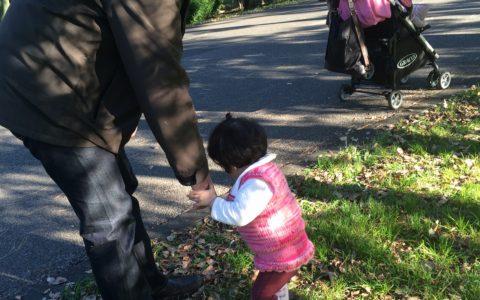娘と公園にて