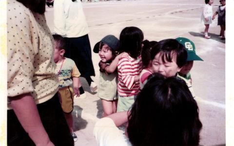 兄の幼稚園の運動会に参加